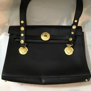 Authentic Gianni Versace black gold hardware bag 78aef082f5182